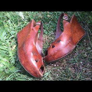 Kork-Ease Leather Heels Sandals